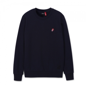 [THE ROLLING STONES] UK TONGUE EMB CREWNECK NAVY