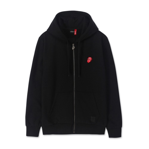 [THE ROLLING STONES] CLASSIC TONGUE EMB HOODIE ZIPUP