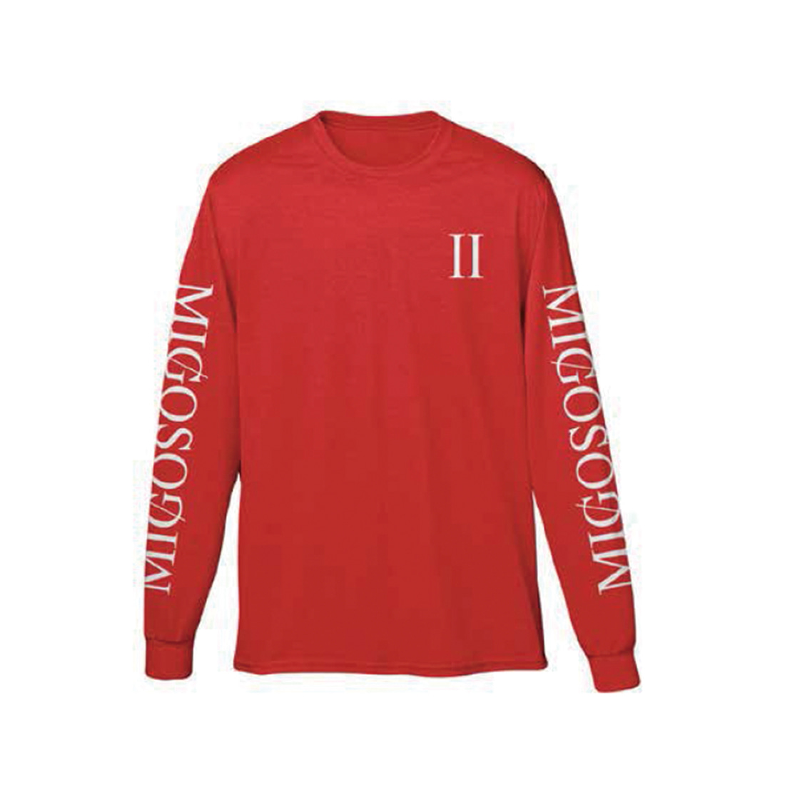 [Migos] CULTURE COLUMNS LONG SLEEVE RED