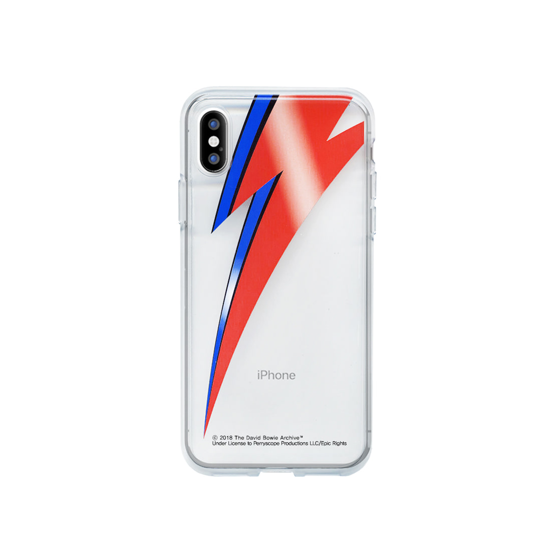 DAVID BOWIE BOLT IPHONE X CLEAR CASE (BRENT197)