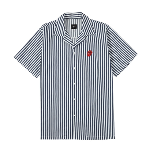 TRS CLASSIC TONGUE STRIPE OPEN SHIRT NA