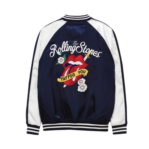 [THE ROLLING STONES] TATTOO YOU SOUVENIR JACKET (NAVY)