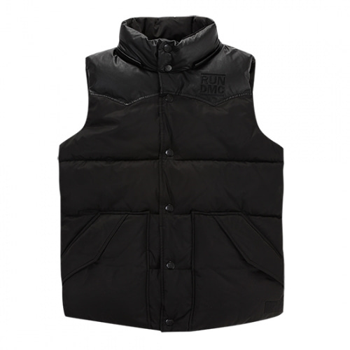 [RUNDMC] LOGO DOWN VEST BLACK