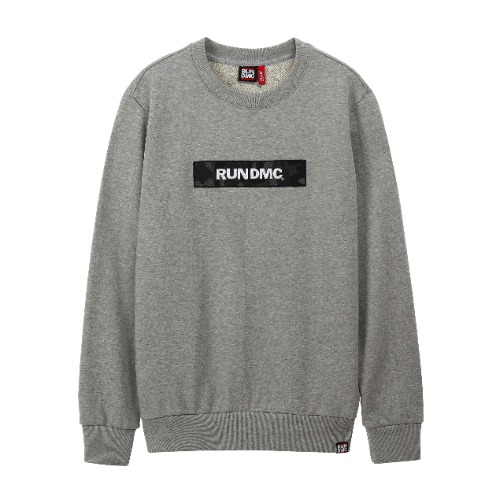 [RUNDMC] MILITARY H-LOGO CREWNECK GREY