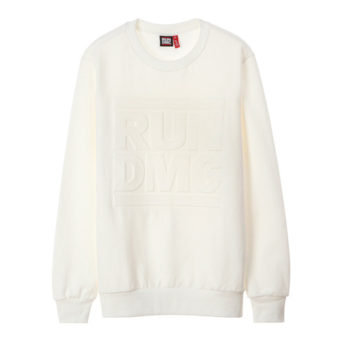 RUNDMC EMBOSSED LOGO SWEATSHIRTS (white)