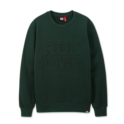 [RUNDMC] EMBOSSED LOGO CREWNECK GREEN